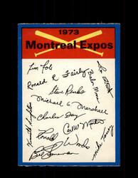 1973 MONTREAL EXPOS OPC TEAM CHECKLIST O-PEE-CHEE *R2211
