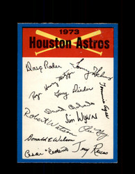 1973 HOUSTON ASTROS OPC TEAM CHECKLIST O-PEE-CHEE *4470