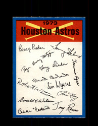 1973 HOUSTON ASTROS OPC TEAM CHECKLIST O-PEE-CHEE *R5410