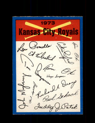 1973 KANSAS CITY ROYALS OPC TEAM CHECKLIST O-PEE-CHEE *4645