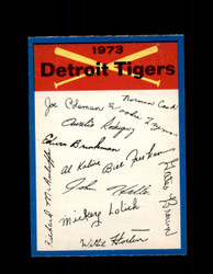 1973 DETROIT TIGERS OPC TEAM CHECKLIST O-PEE-CHEE *2091