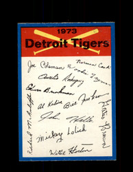 1973 DETROIT TIGERS OPC TEAM CHECKLIST O-PEE-CHEE *2976
