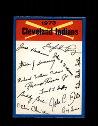 1973 CLEVELAND INDIANS OPC TEAM CHECKLIST O-PEE-CHEE *R1240