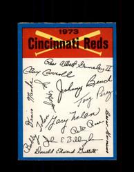 1973 CINCINNATI REDS OPC TEAM CHECKLIST O-PEE-CHEE *R3651