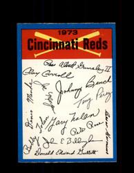 1973 CINCINNATI REDS OPC TEAM CHECKLIST O-PEE-CHEE *G6989