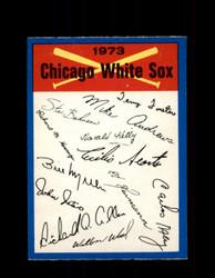 1973 CHICAGO WHITE SOX OPC TEAM CHECKLIST O-PEE-CHEE *G6990
