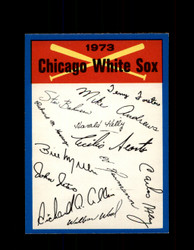 1973 CHICAGO WHITE SOX OPC TEAM CHECKLIST O-PEE-CHEE *G6991