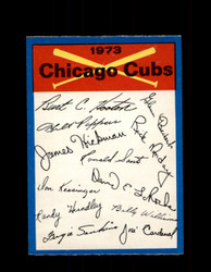 1973 CHICAGO CUBS OPC TEAM CHECKLIST O-PEE-CHEE *G6992