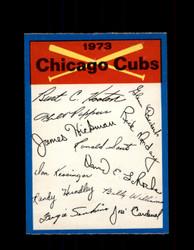 1973 CHICAGO CUBS OPC TEAM CHECKLIST O-PEE-CHEE *G6992