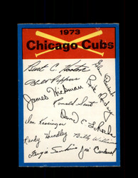 1973 CHICAGO CUBS OPC TEAM CHECKLIST O-PEE-CHEE *G6993