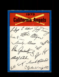 1973 CALIFORNIA ANGELS OPC TEAM CHECKLIST O-PEE-CHEE *G6994