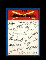 1973 CALIFORNIA ANGELS OPC TEAM CHECKLIST O-PEE-CHEE *G6994