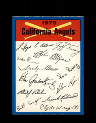 1973 CALIFORNIA ANGELS OPC TEAM CHECKLIST O-PEE-CHEE *G6995