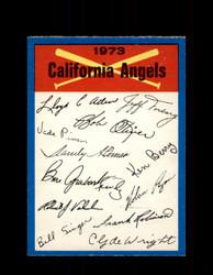 1973 CALIFORNIA ANGELS OPC TEAM CHECKLIST O-PEE-CHEE *G6995