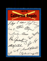 1973 CALIFORNIA ANGELS OPC TEAM CHECKLIST O-PEE-CHEE *G6996