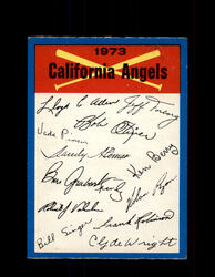 1973 CALIFORNIA ANGELS OPC TEAM CHECKLIST O-PEE-CHEE *G6996