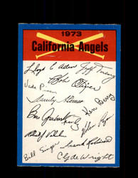 1973 CALIFORNIA ANGELS OPC TEAM CHECKLIST O-PEE-CHEE *G6997