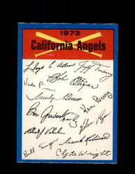 1973 CALIFORNIA ANGELS OPC TEAM CHECKLIST O-PEE-CHEE *G6997