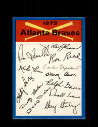 1973 ATLANTA BRAVES OPC TEAM CHECKLIST O-PEE-CHEE *G6999