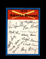 1973 ATLANTA BRAVES OPC TEAM CHECKLIST O-PEE-CHEE *G7000