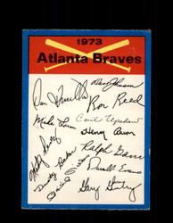 1973 ATLANTA BRAVES OPC TEAM CHECKLIST O-PEE-CHEE *G7000