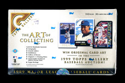 1999 TOPPS GALLERY BASEBALL THE ART OF COLLECTING FACTORY SEALED HOBBY BOX