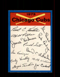 1973 CHICAGO CUBS OPC TEAM CHECKLIST O-PEE-CHEE *5784
