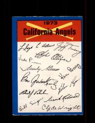 1973 CALIFORNIA ANGELS  OPC TEAM CHECKLIST O-PEE-CHEE *2565
