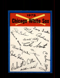 1973 CHICAGO WHITE SOX  OPC TEAM CHECKLIST O-PEE-CHEE *6004