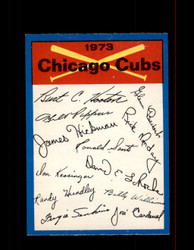 1973 CHICAGO CUBS OPC TEAM CHECKLIST O-PEE-CHEE *8332