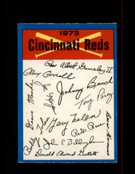 1973 CINCINNATI REDS OPC TEAM CHECKLIST O-PEE-CHEE *R4296