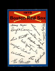 1973 BOSTON RED SOX OPC TEAM CHECKLIST O-PEE-CHEE *9206
