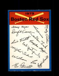 1973 BOSTON RED SOX OPC TEAM CHECKLIST O-PEE-CHEE *9206