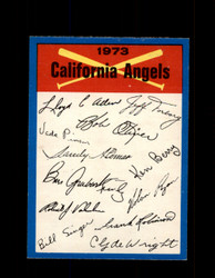 1973 CALIFORNIA ANGELS  OPC TEAM CHECKLIST O-PEE-CHEE *G3011