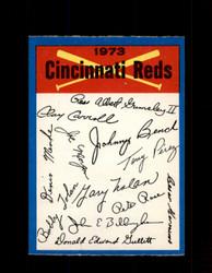 1973 CINCINNATI REDS OPC TEAM CHECKLIST O-PEE-CHEE *G3012