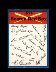 1973 BOSTON RED SOX OPC TEAM CHECKLIST O-PEE-CHEE *G3013