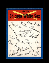 1973 CHICAGO WHITE SOX OPC TEAM CHECKLIST O-PEE-CHEE *G3014