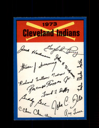 1973 CLEVELAND INDIANS OPC TEAM CHECKLIST O-PEE-CHEE *G3015
