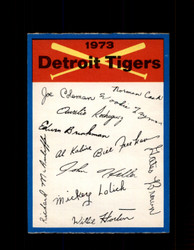 1973 DETROIT TIGERS OPC TEAM CHECKLIST O-PEE-CHEE *G3016
