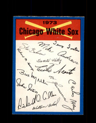 1973 CHICAGO WHITE SOX OPC TEAM CHECKLIST O-PEE-CHEE *G3025