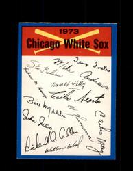 1973 CHICAGO WHITE SOX OPC TEAM CHECKLIST O-PEE-CHEE *G3025