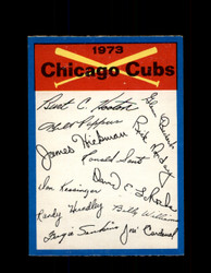 1973 CHICAGO CUBS OPC TEAM CHECKLIST O-PEE-CHEE *G3030