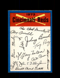 1973 CINCINNATI REDS OPC TEAM CHECKLIST O-PEE-CHEE *G3031