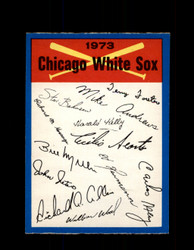 1973 CHICAGO WHITE SOX OPC TEAM CHECKLIST O-PEE-CHEE *G3032