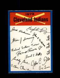 1973 CLEVELAND INDIANS OPC TEAM CHECKLIST O-PEE-CHEE *G3033