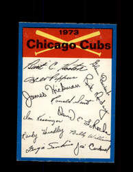 1973 CHICAGO CUBS OPC TEAM CHECKLIST O-PEE-CHEE *G3046