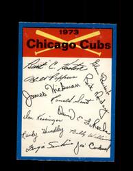 1973 CHICAGO CUBS OPC TEAM CHECKLIST O-PEE-CHEE *G3046