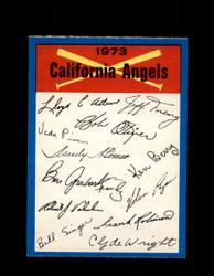 1973 CALIFORNIA ANGELS  OPC TEAM CHECKLIST O-PEE-CHEE *G3047