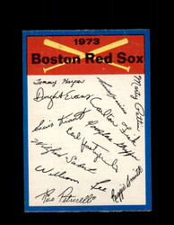 1973 BOSTON RED SOX OPC TEAM CHECKLIST O-PEE-CHEE *G3048