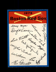 1973 BOSTON RED SOX OPC TEAM CHECKLIST O-PEE-CHEE *G3049